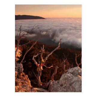 Dawn Ai-Petri Yaila nature reserve, Alupka Russia Postcard
