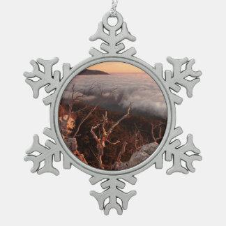 Dawn Ai-Petri Yaila nature reserve, Alupka Russia Snowflake Pewter Christmas Ornament