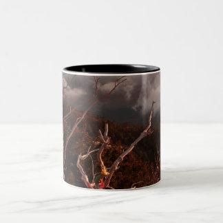 Dawn Ai-Petri Yaila nature reserve, Alupka Russia Two-Tone Coffee Mug