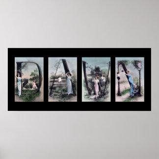 DAWN Alphabet Letter Name Art Poster