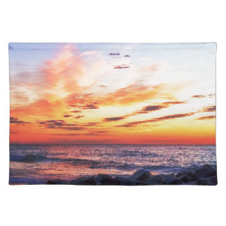 Dawn at 120th Street in Ocean City Maryland Cloth Placemat