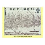 Dawn at Isawa by Katsushika,Hokusai Post Cards