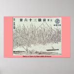 Dawn at Isawa by Katsushika,Hokusai Poster