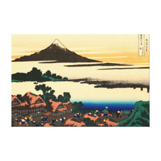 Dawn at Isawa in Kai Province Gallery Wrapped Canvas