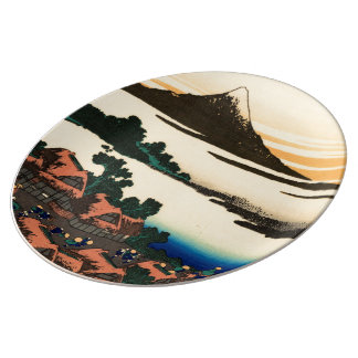 Dawn at Isawa in Kai Province Porcelain Plate