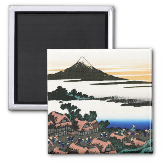 Dawn at Isawa in the Kai province Hokusai 2 Inch Square Magnet