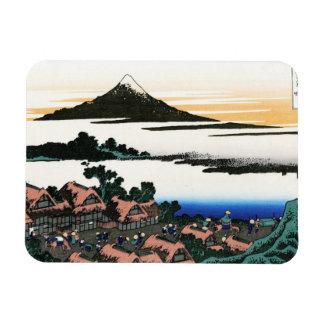 Dawn at Isawa in the Kai province Hokusai Rectangular Photo Magnet
