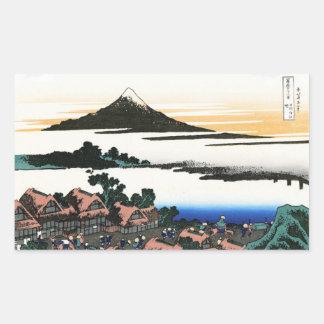 Dawn at Isawa in the Kai province Hokusai Rectangular Sticker