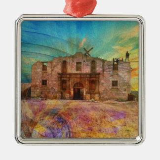 Dawn At The Alamo Metal Ornament