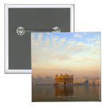 Dawn at the Golden Temple 2 Inch Square Button