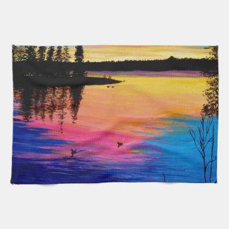 Dawn at the Lake Towel