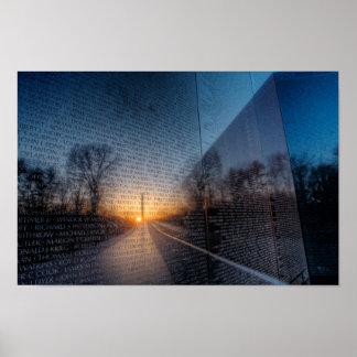 Dawn At The Vietnam Memorial II Poster