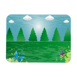dawn - awakening rectangular photo magnet