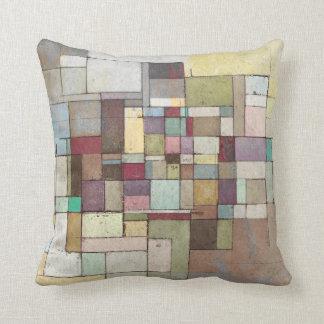 Dawn Beach Abstract Art Throw Pillow