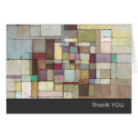 Dawn Beach Lattice Abstract Painting Stationery Note Card