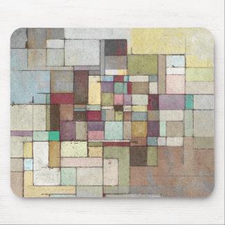 Dawn Beach Lattice Abstract Painting Mousepad