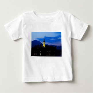 Dawn breaks over Lake Bled Baby T-Shirt