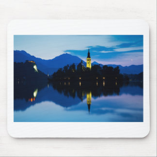 Dawn breaks over Lake Bled Mouse Pad