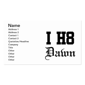 dawn Double-Sided standard business cards (Pack of 100)