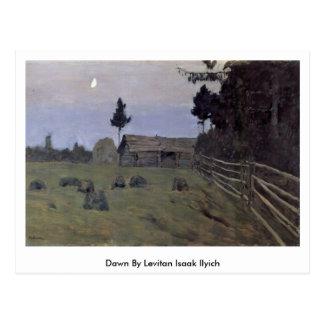 Dawn By Levitan Isaak Ilyich Postcard