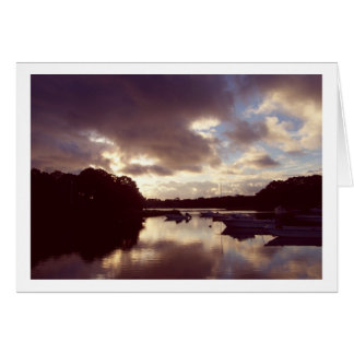 Dawn Comes to Meetinghouse Pond Greeting Card