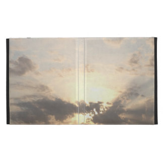 Dawn dusk sky landscape with clouds nature photo iPad case