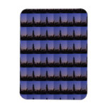 Dawn Empire State Building all in Blue NYC Skyline Rectangle Magnet