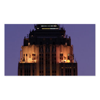 Dawn: Empire State Building still lit up Pink 01 Business Cards