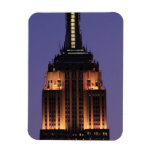 Dawn: Empire State Building still lit up Pink 01 Magnets