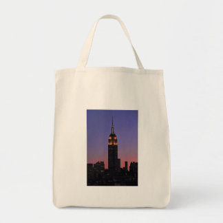 Dawn: Empire State Building still lit up Pink 02 Canvas Bag