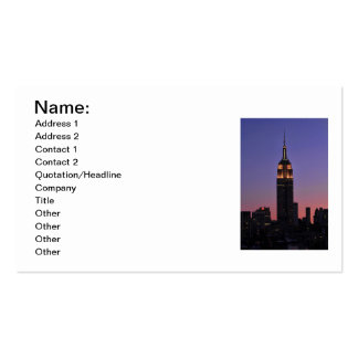 Dawn: Empire State Building still lit up Pink 02 Business Card Template