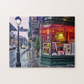 Dawn - French Quarter - Gallery Corner Jigsaw Puzzle
