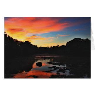 Dawn Horizon Hues Greeting Card