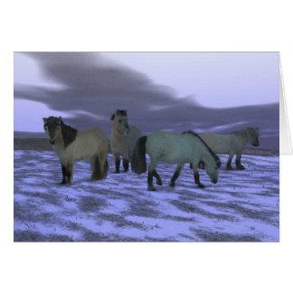 Dawn Horse Greeting Card
