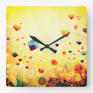 Dawn in Spring. Square Wall Clock