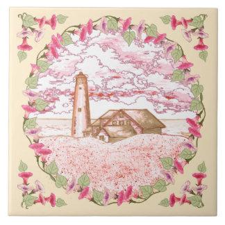 Dawn Lighthouse custom name ceramic tile