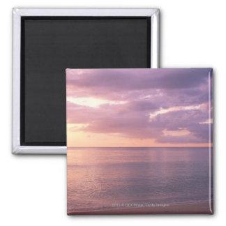 Dawn meets beach fridge magnets