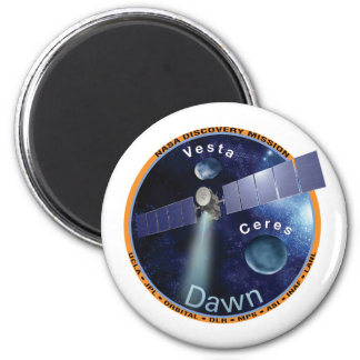 Dawn Mission Patch   2 Inch Round Magnet