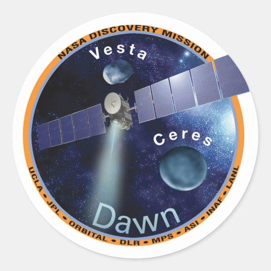 Dawn Mission Patch   Classic Round Sticker