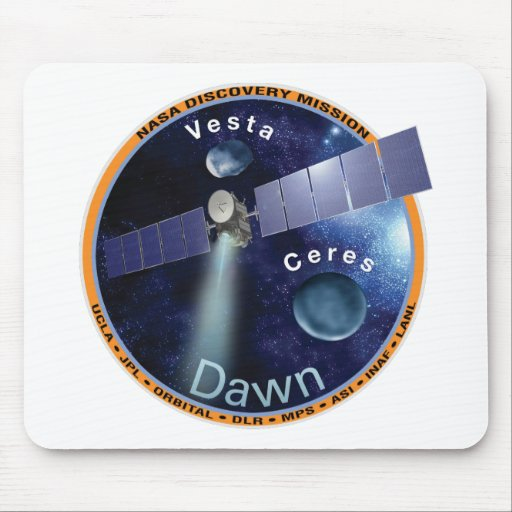 Dawn Mission Patch  Mouse Pads