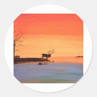 Dawn of Peace_Reindeer_Anjali Sanghi Round Sticker