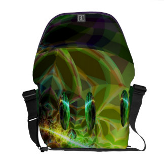 Dawn of Time – Green & Gold Emerge Courier Bag