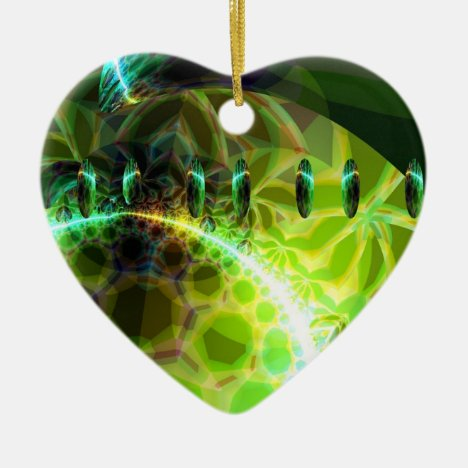 Dawn of Time – Lime & Gold Emerge Ceramic Ornament
