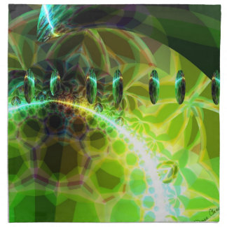 Dawn of Time – Lime & Gold Emerge Cloth Napkin