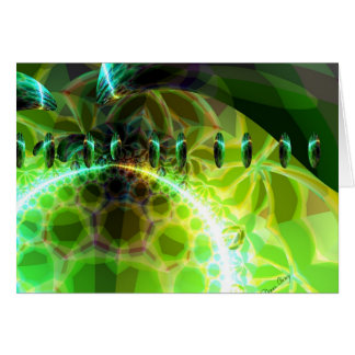 Dawn of Time – Lime & Gold Emerge Greeting Cards