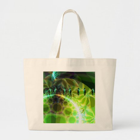 Dawn of Time – Lime & Gold Emerge Large Tote Bag