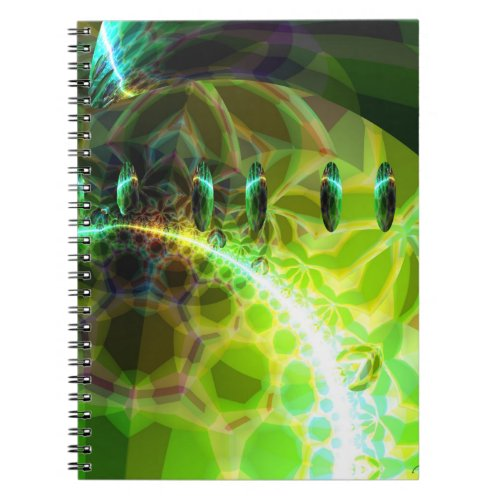 Dawn of Time – Lime & Gold Emerge Notebook