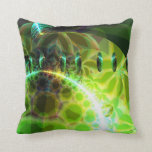 Dawn of Time – Lime & Gold Emerge Throw Pillows