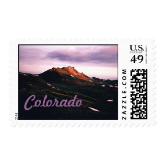 Dawn on Engineer Mountain near Ouray, CO Stamp