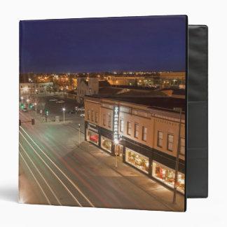 Dawn on Main Street of Bismarck, North Dakota 3 Ring Binder